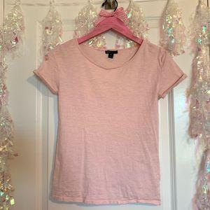 Gap Kids Light Pink Tee Folded Sleeves XL (12)